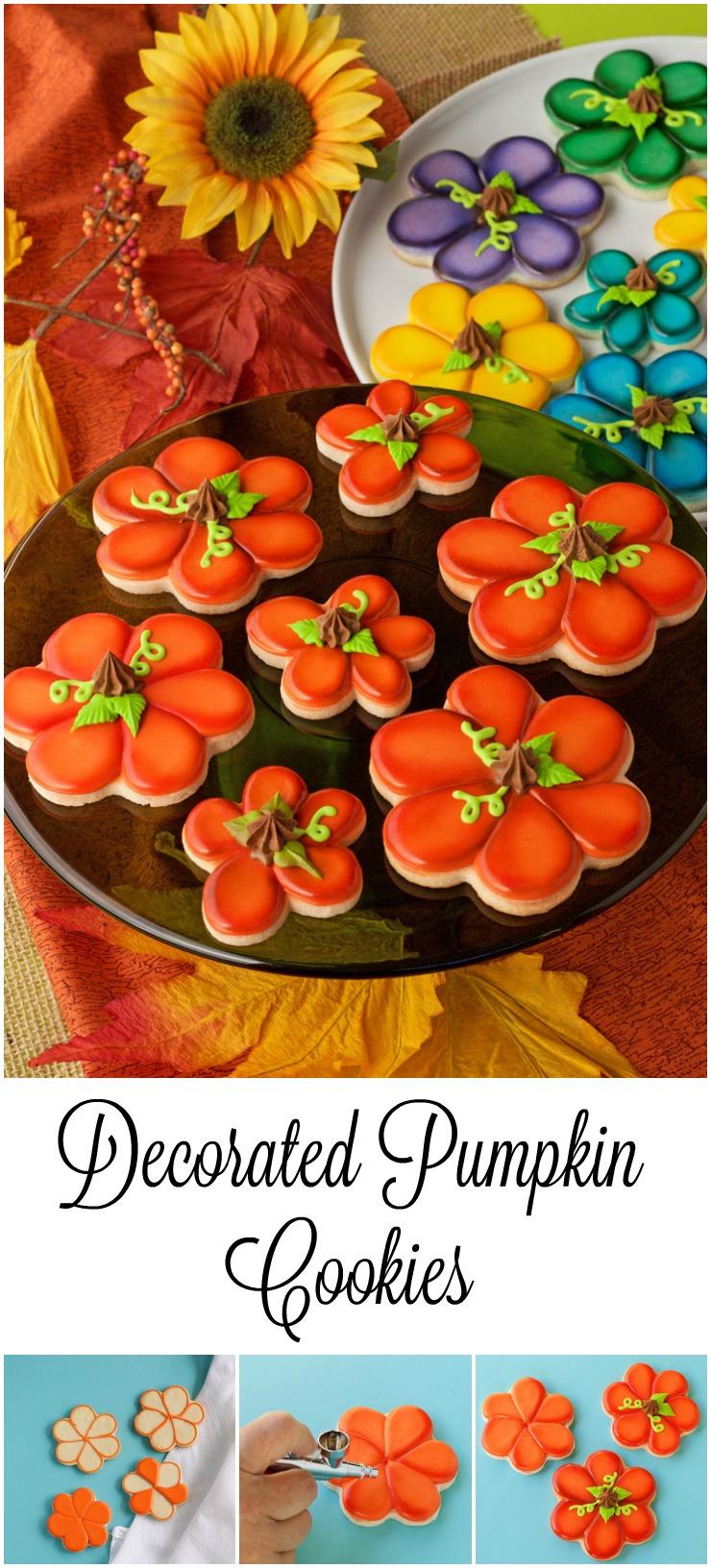 Decorated Pumpkin Cookies   The Bearfoot Baker