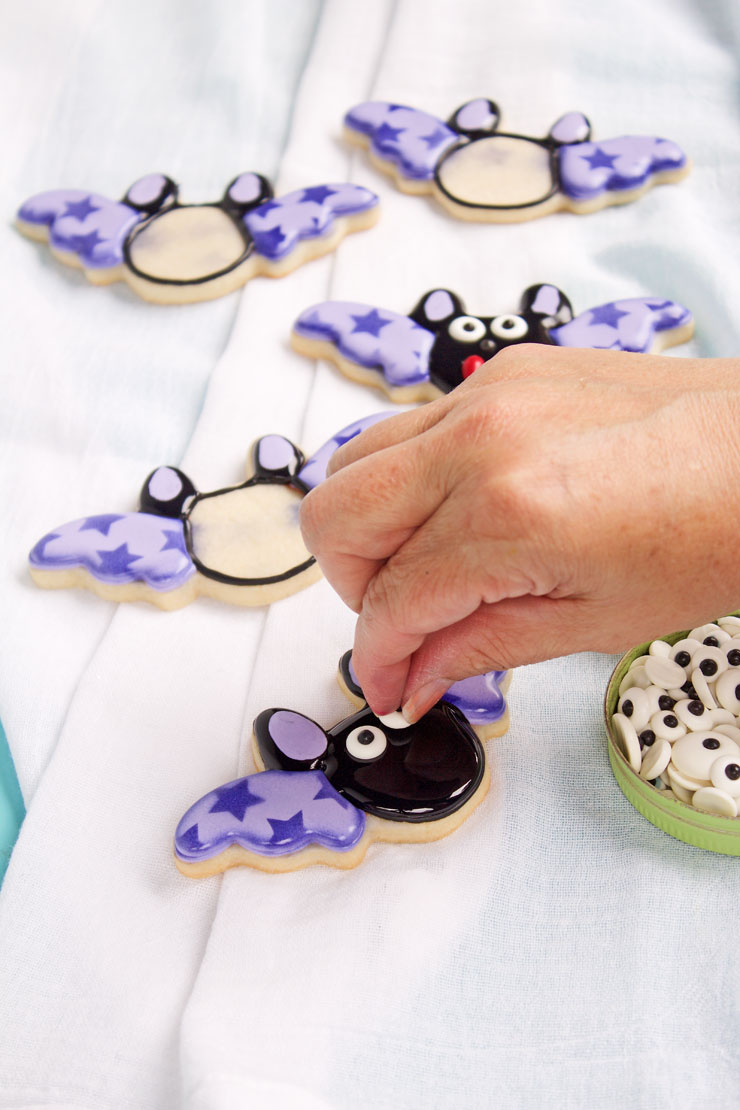 Fun Bat Cookies with Stenciled Wings | The Bearfoot Baker