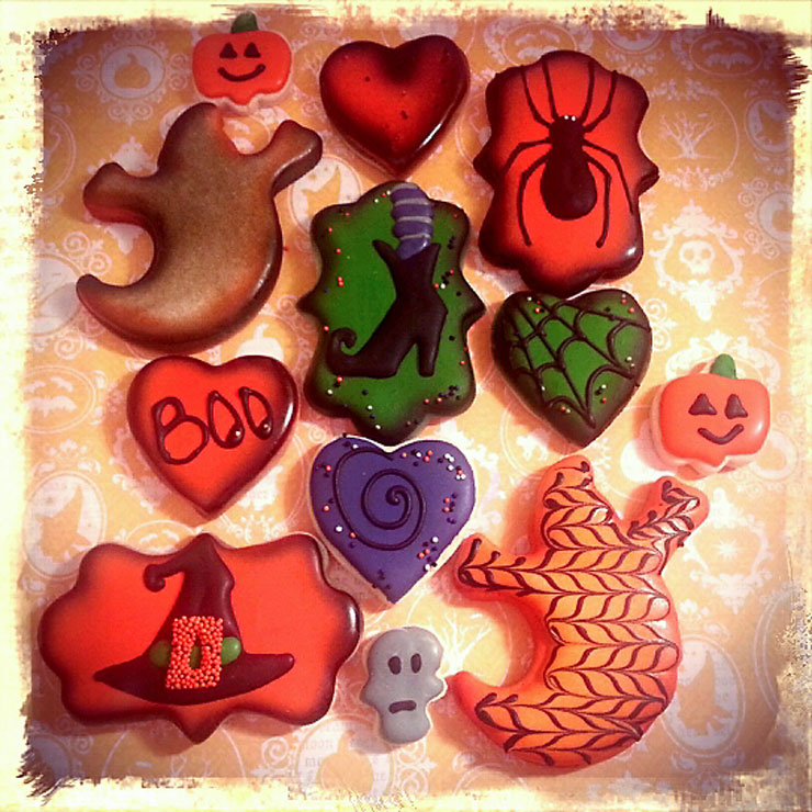 Halloween Cookies Lilly Made with an Airbrush Gun Replacement   The Bearfoot Baker