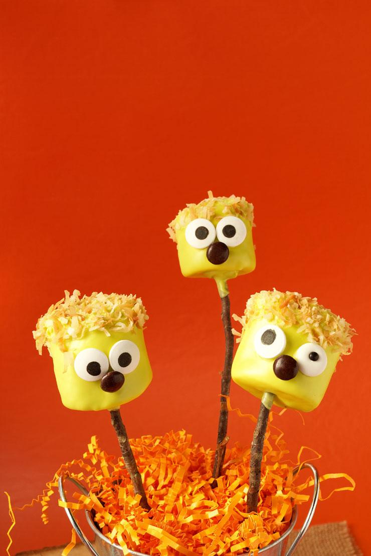 Halloween Marshmallow Pops | The Bearfoot Baker