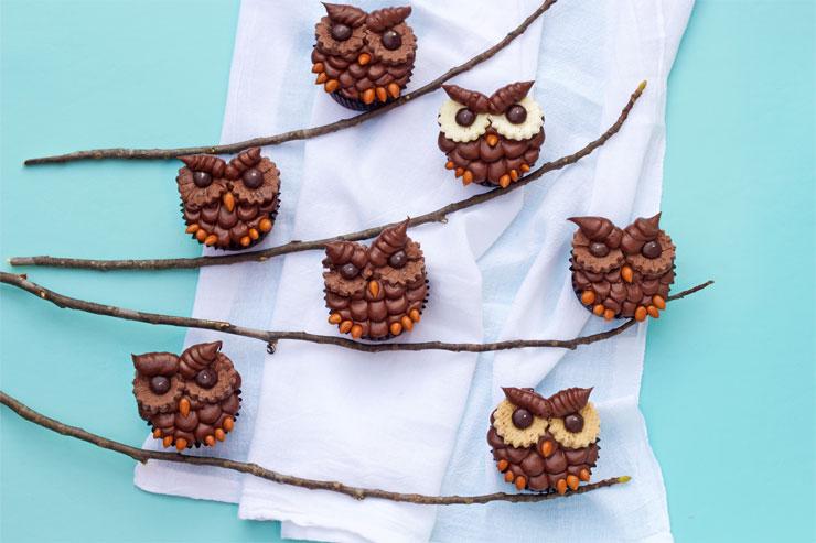 How to Make Chocolate Owl Cupcakes | The Bearfoot Baker