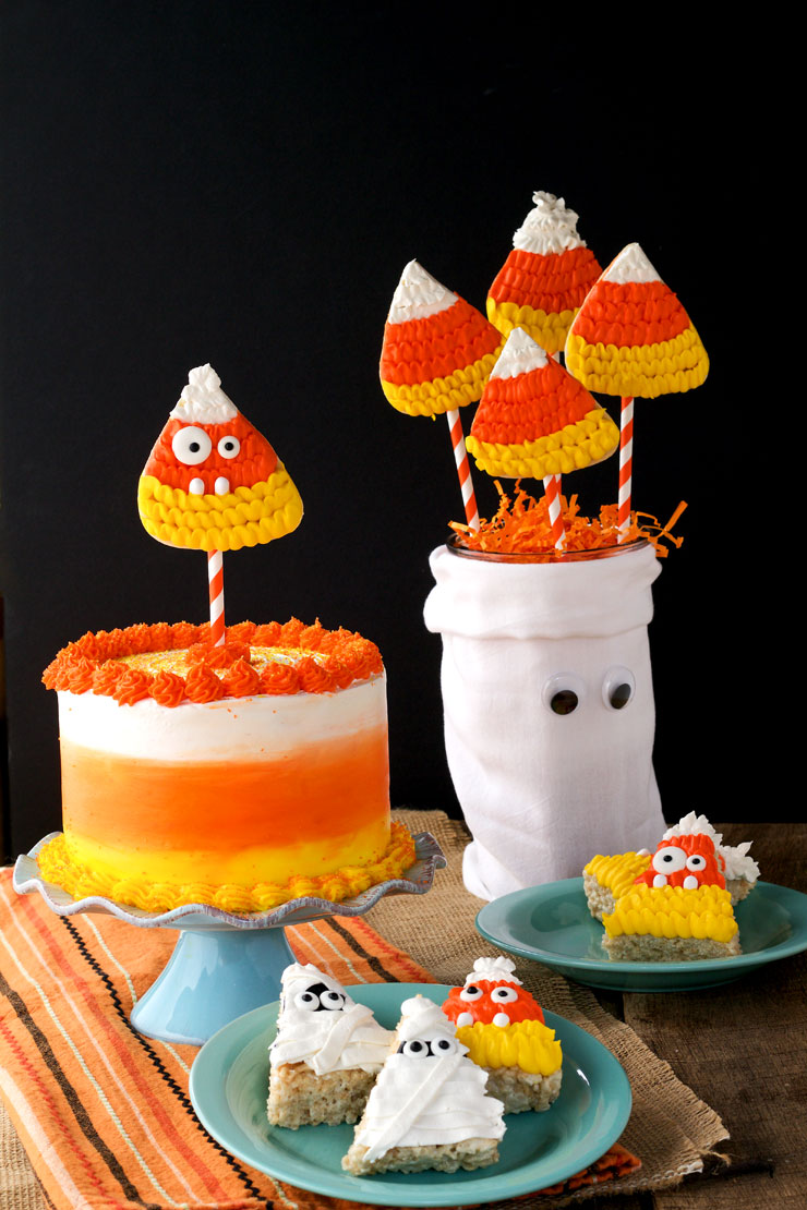How to Make a Candy Corn Cake with Video | The Bearfoot Baker