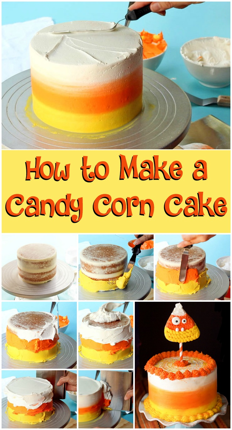 How to Make a Fun Candy Corn Cake | The Bearfoot Baker
