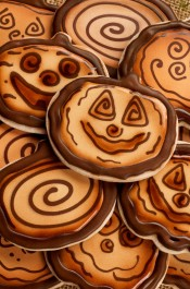 Wooden Pumpkin Cookies