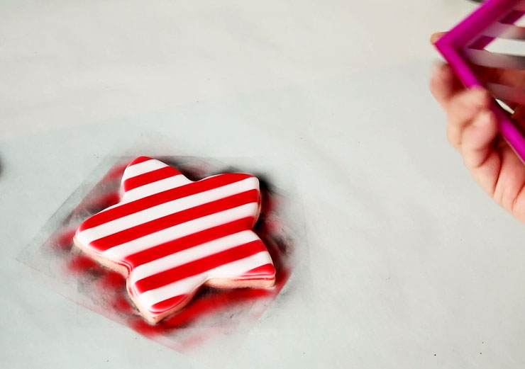 An Easy way to Make Plaid Cookies using a Stencil | The Bearfoot Baker