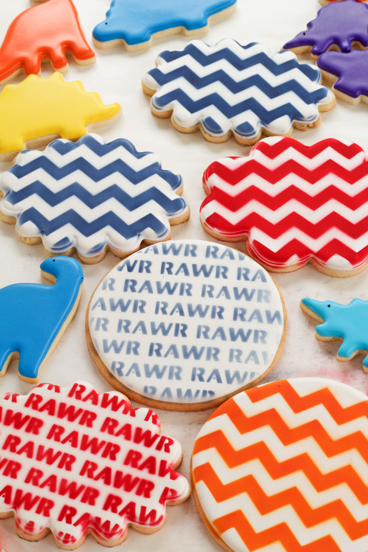 Fun Little Dinosaur Cookies -Sugar Cookies Decorated with Royal Icing | The Bearfoot Baker