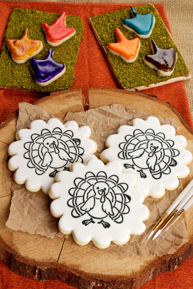 Paint Your Own Cookie For Thanksgiving The Bearfoot Baker