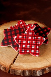 How to Airbrush Plaid Cookies | The Bearfoot Baker