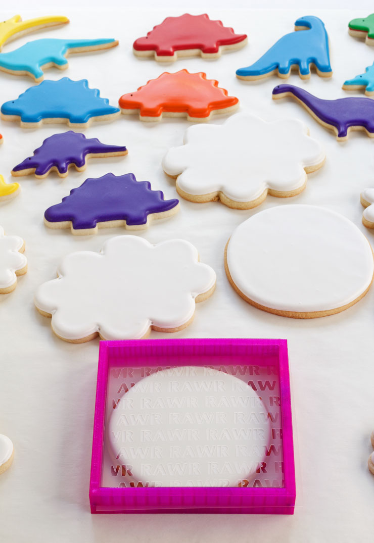 How to Make Dinosaur Cookies -Sugar Cookies Decorated with Royal Icing | The Bearfoot Baker