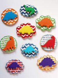 How to Make Simple Dinosaur Cookies -Sugar Cookies Decorated with Royal Icing | The Bearfoot Baker