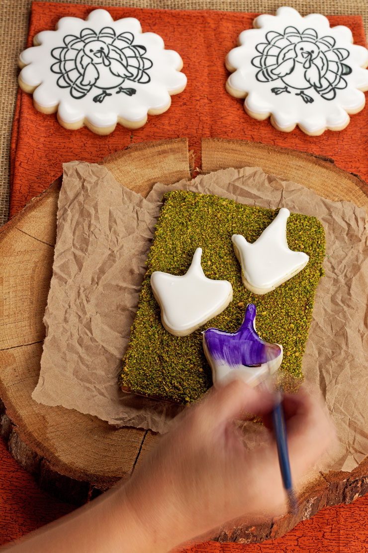 Let the Kids Play with Their Food with a Paint Your Own Cookie this Thanksgiving | The Bearfoot Baker