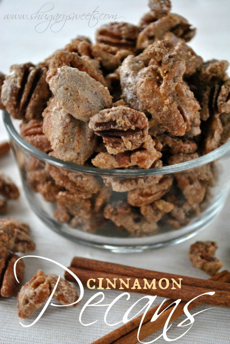 Candied Cinnamon Pecans by Shugary Sweets Homemade Food Gifts for Christmas | The Bearfoot Baker
