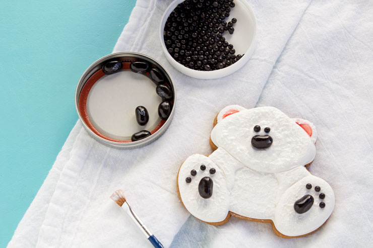 Cute Decorated Polar Bear Cookies | The Bearfoot Baker