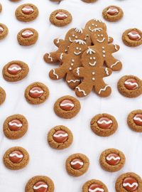 Cute Gingerbread Thumbprint Cookies from a Cookie Mix | The Bearfoot Baker