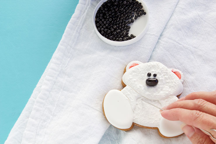 Decorated Polar Bear Cookies with a Step by Step Tutorial | The Bearfoot Baker
