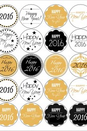 New Year Labels – Free Printable