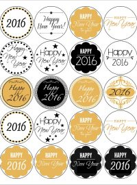 Free Printable Happy New Year Labels The Bearfoot Baker
