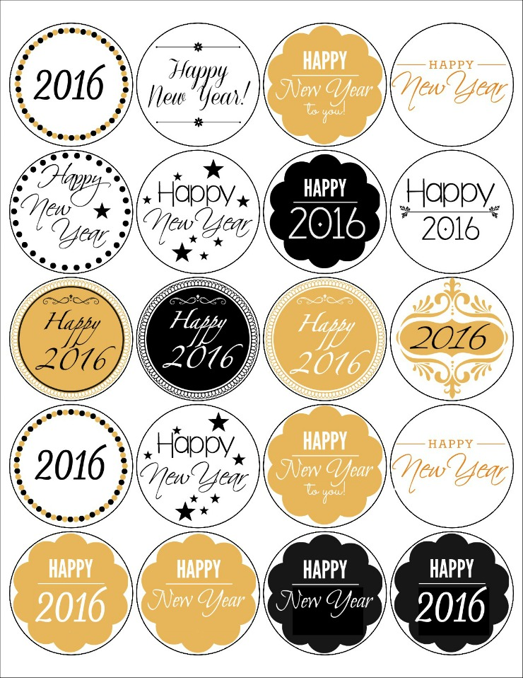 New Year Labels - Free Printable | The Bearfoot Baker