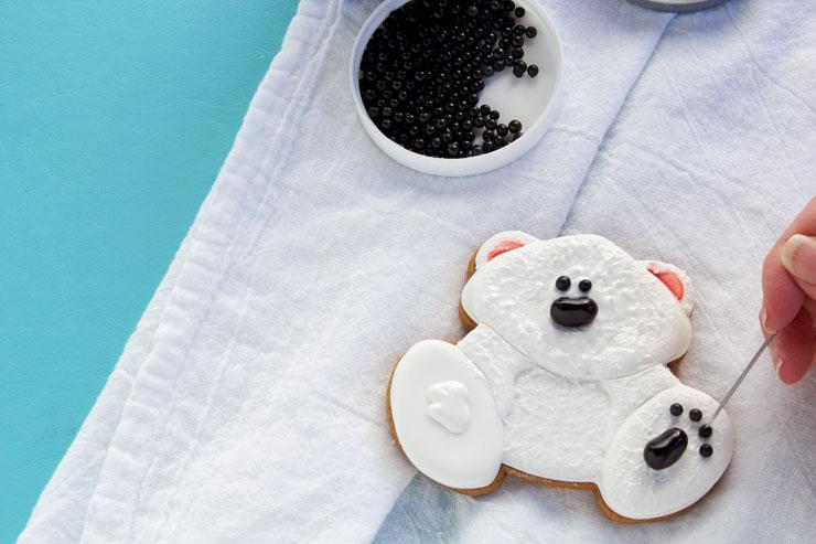 Fun Decorated Polar Bear Cookie | The Bearfoot Baker
