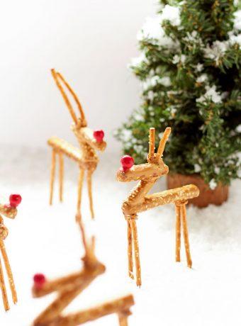 Fun Pretzel Reindeer | The Bearfoot Baker