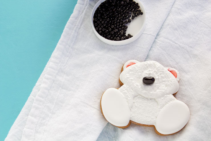 How to Make Decorated Polar Bear Cookies | The Bearfoot Baker