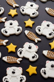 Decorated Polar Bear Cookies