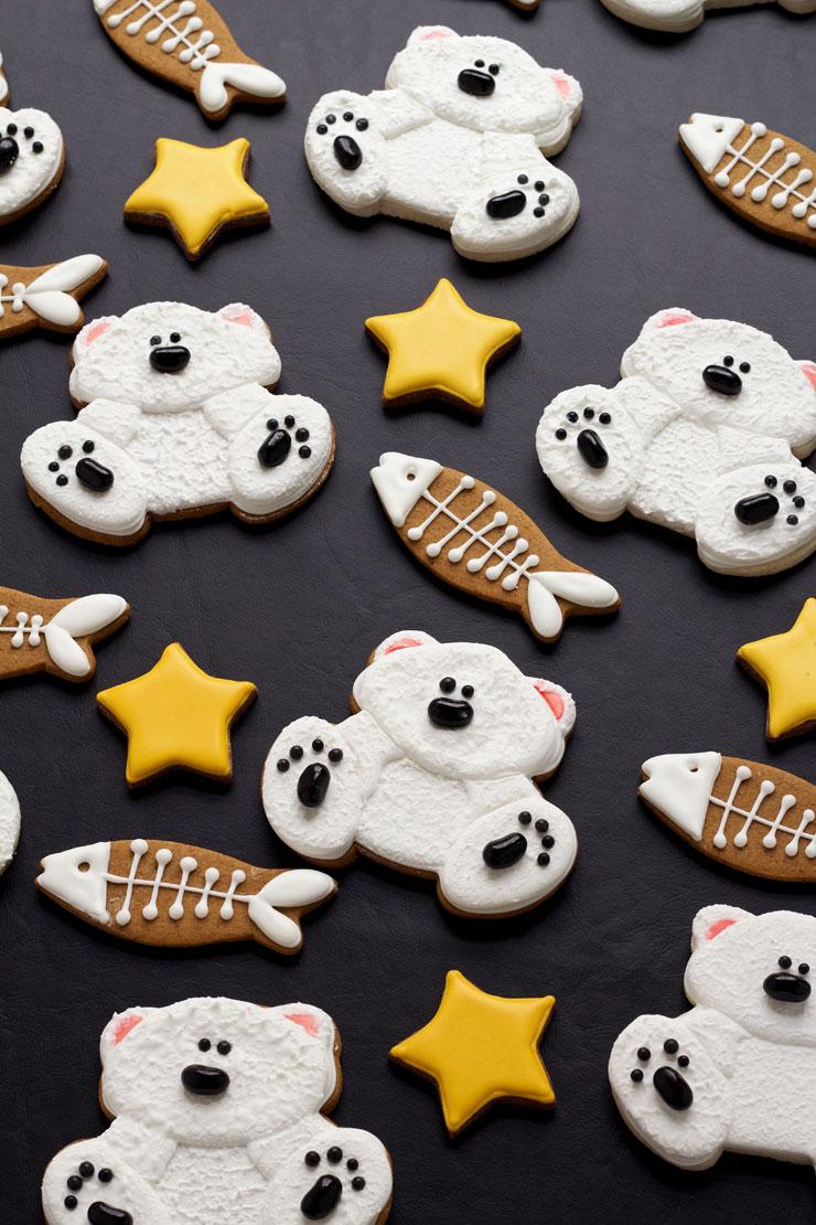 decorated polar bear cookies the bearfoot baker