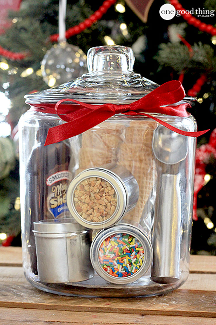 Ice Cream Party in a Jar by One Good Thing by Jillee Homemade Food Gifts for Christmas | The Bearfoot Baker