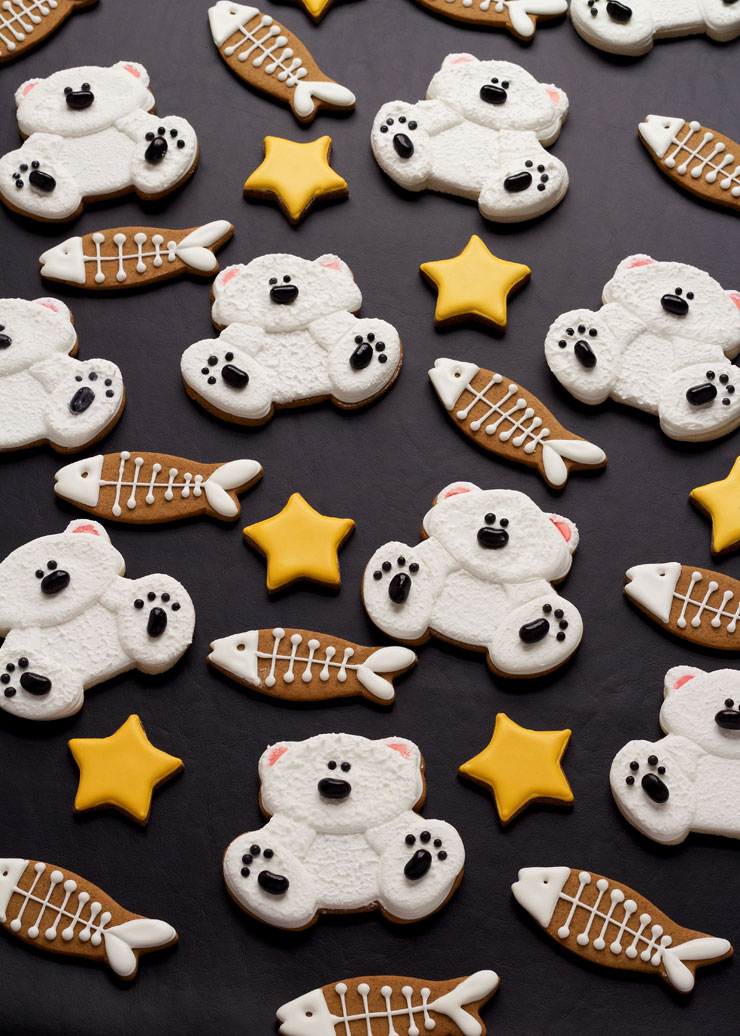 Learn How to Make These Cute Little Decorated Polar Bear Cookies | The Bearfoot Baker