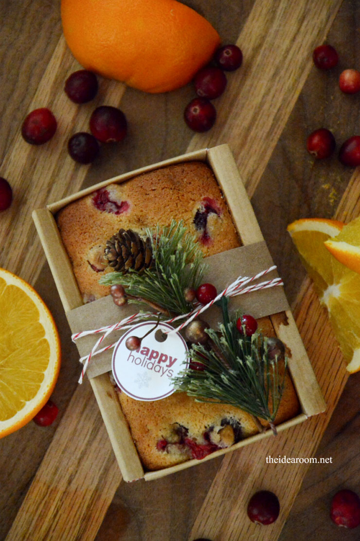 Orange Cranberry Bread Recipe by The Idea Room Featured on Your Homebased Mom Homemade Food Gifts for Christmas | The Bearfoot Baker