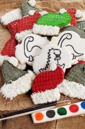 Dinosaur Christmas Cookies with a PYO Stencil