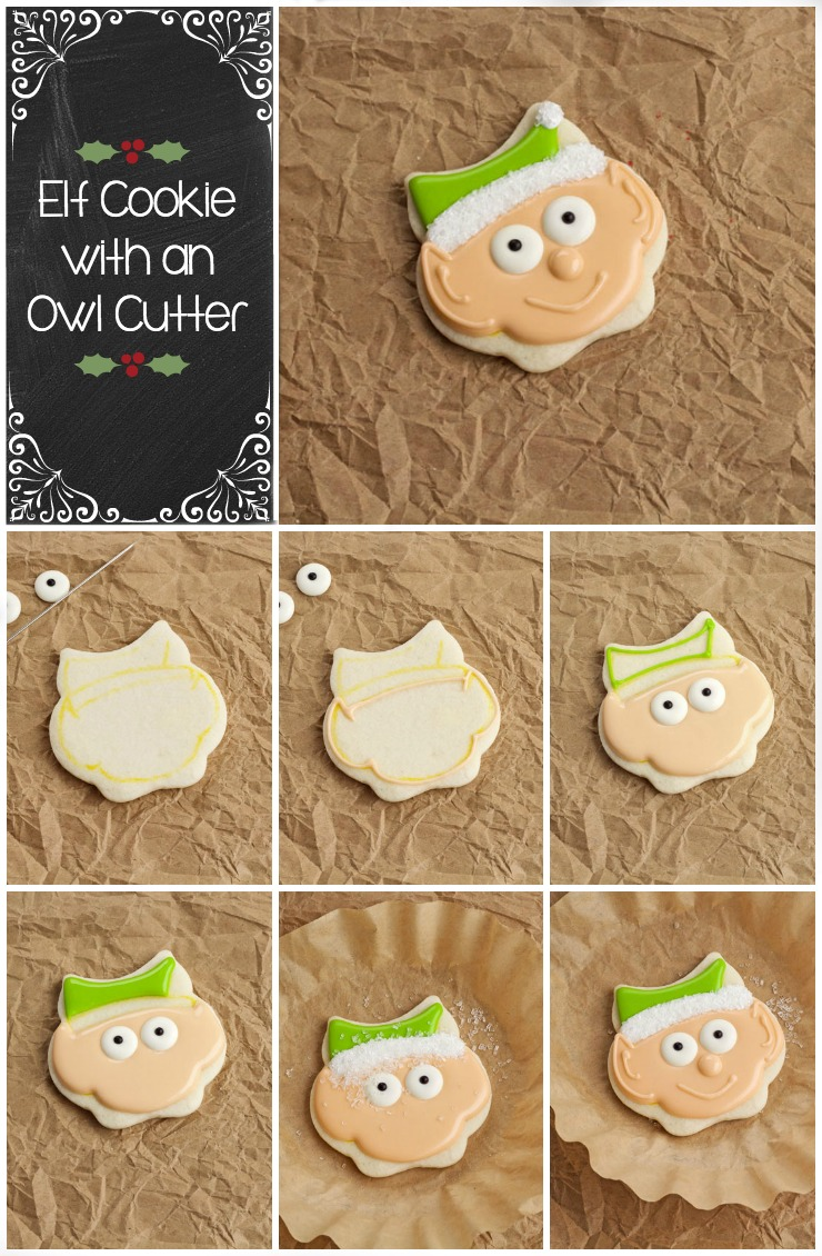 Simple Christmas Cookies-An Elf Cookie with an Owl Cookie Cutter | The Bearfoot Baker