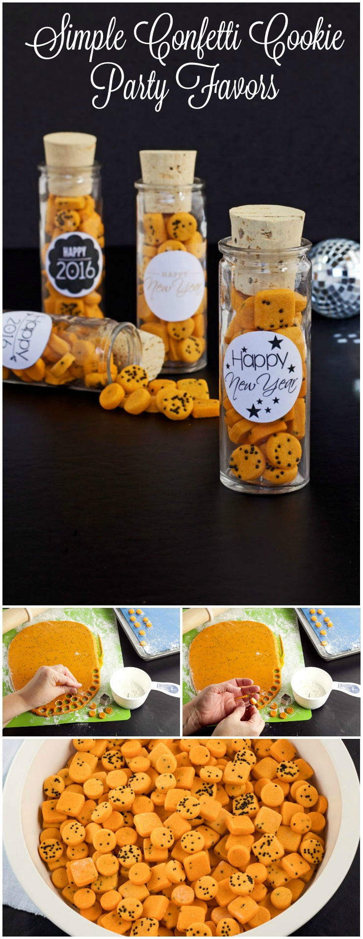 Simple Confetti Cookies in fun Favor Bottles | The Bearfoot Baker