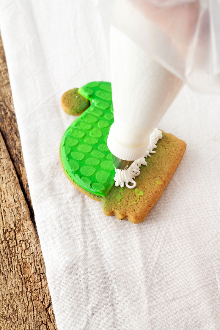 Simple Dinosaur Christmas Cookies | The Bearfoot Baker