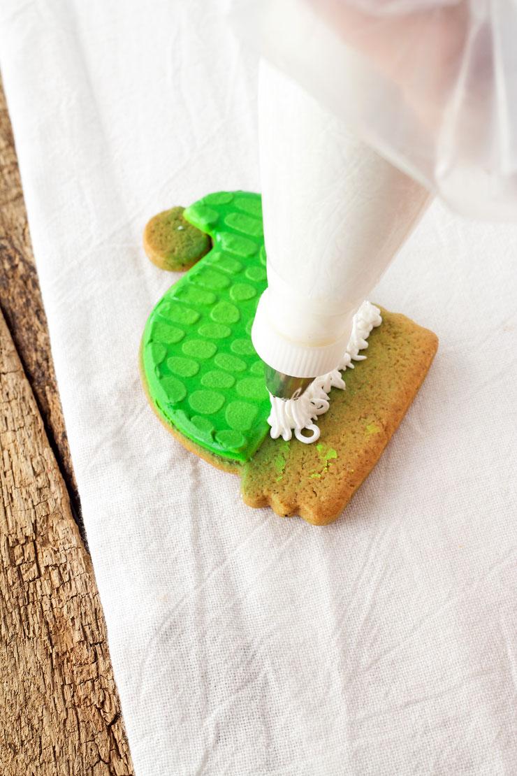 Simple Dinosaur Christmas Cookies | The Bearfoot Baker