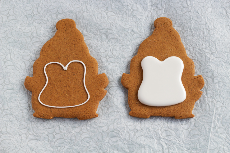 Simple Penguin Cookies with Cute Hats | The Bearfoot Baker