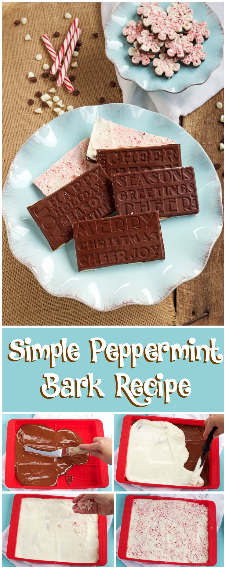 Simple Peppermint Bark Recipe for Christmas | The Bearfoot Baker