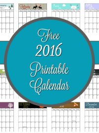 Free 2016 Calendar | The Bearfoot Baker
