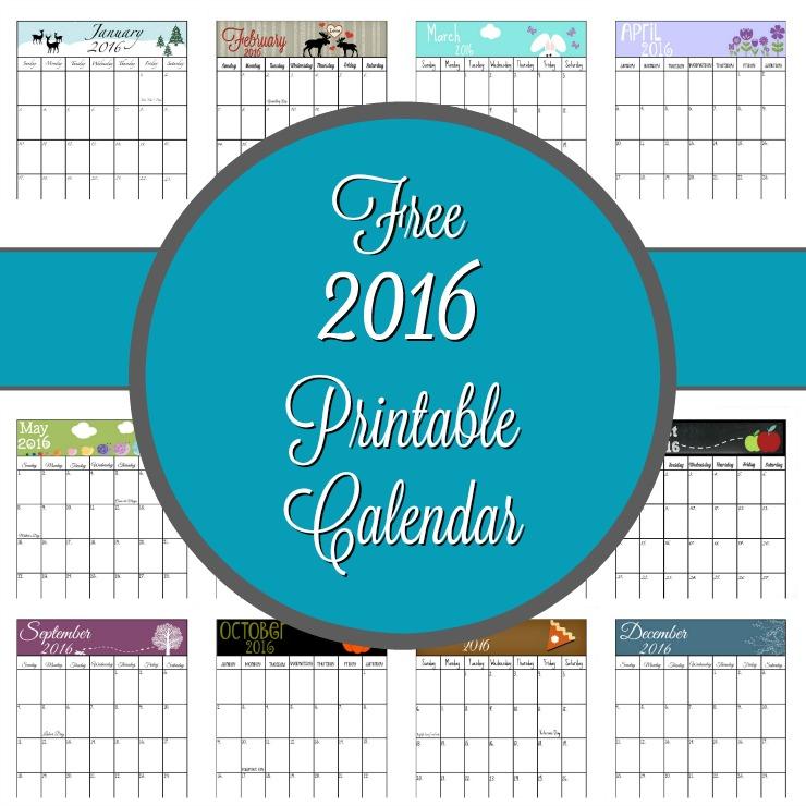 Free 2016 Calendar | The Bearfoot Baker