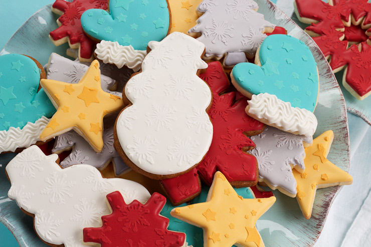 How to Stencil Cookies Tutorial and Video | The Bearfoot Baker
