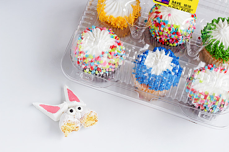 Simple Bunny Cupcakes and You Don't Even Have to Bake | The Bearfoot Baker