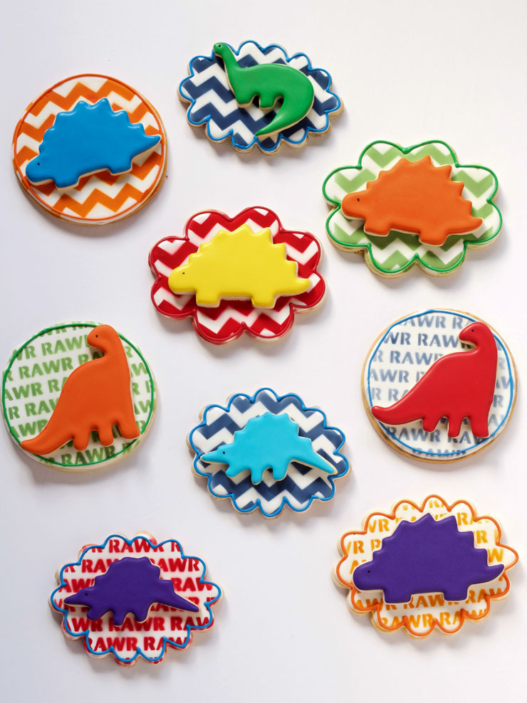 Dinosaur Cookies Sugar Cookies Great for Valentine's Day | The Bearfoot Baker