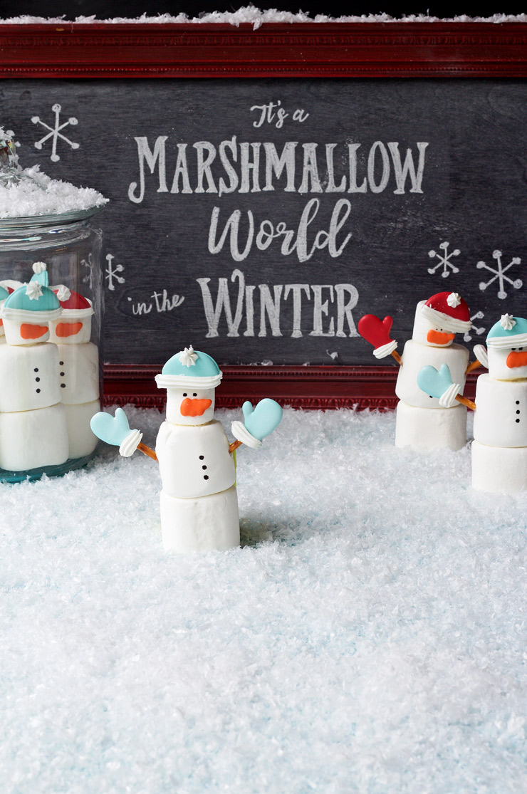 Marshmallow Snowmen | The Bearfoot Baker