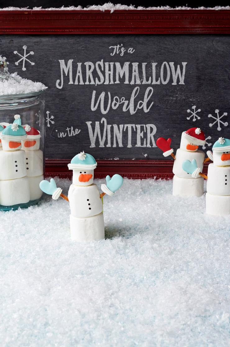 Marshmallow Snowmen | The Bearfoot Baker