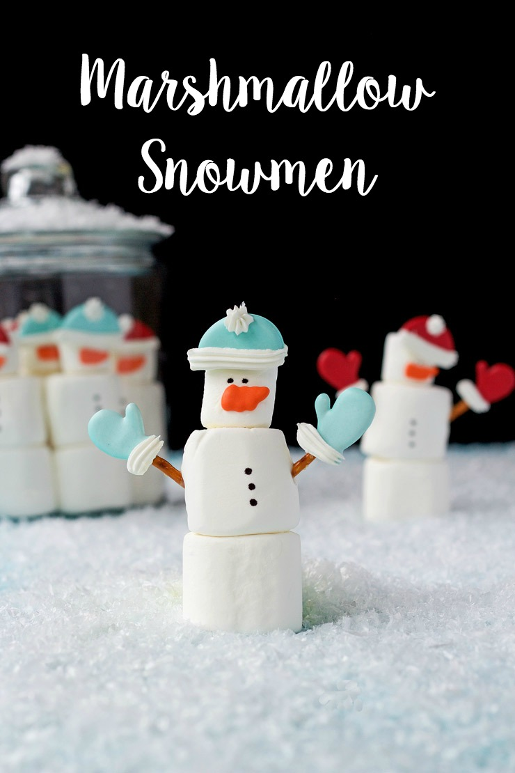 Marshmallow Snowmen with Royal Icing Transfers The Bearfoot Baker