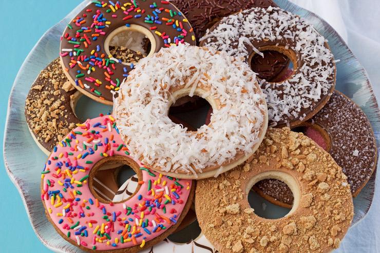 Superbowl Snacks Donut COOKIES   The Bearfoot Baker