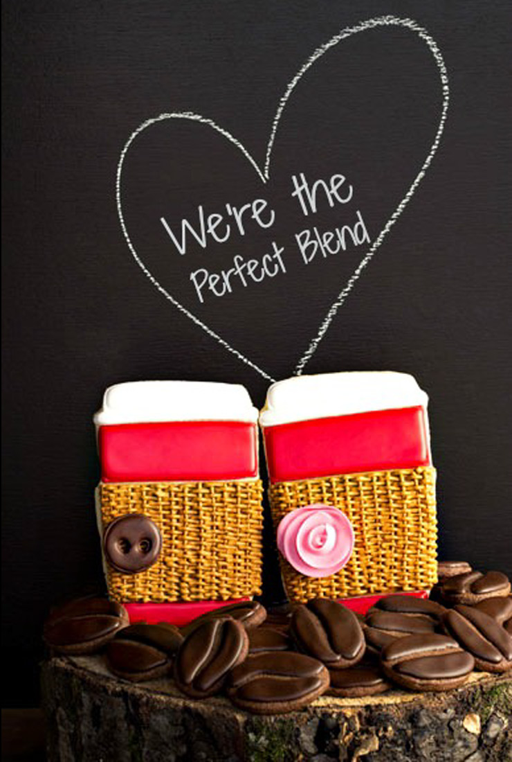 We're the Perfect Blend Valentine's Cookies | The Bearfoot Baker