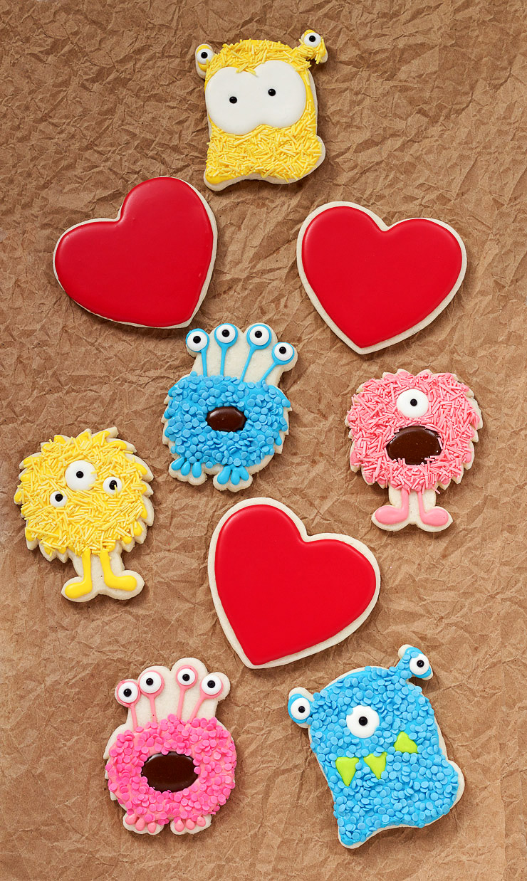 Your Monsteriffic Valentine Cookie Monsters | The Bearfoot Baker