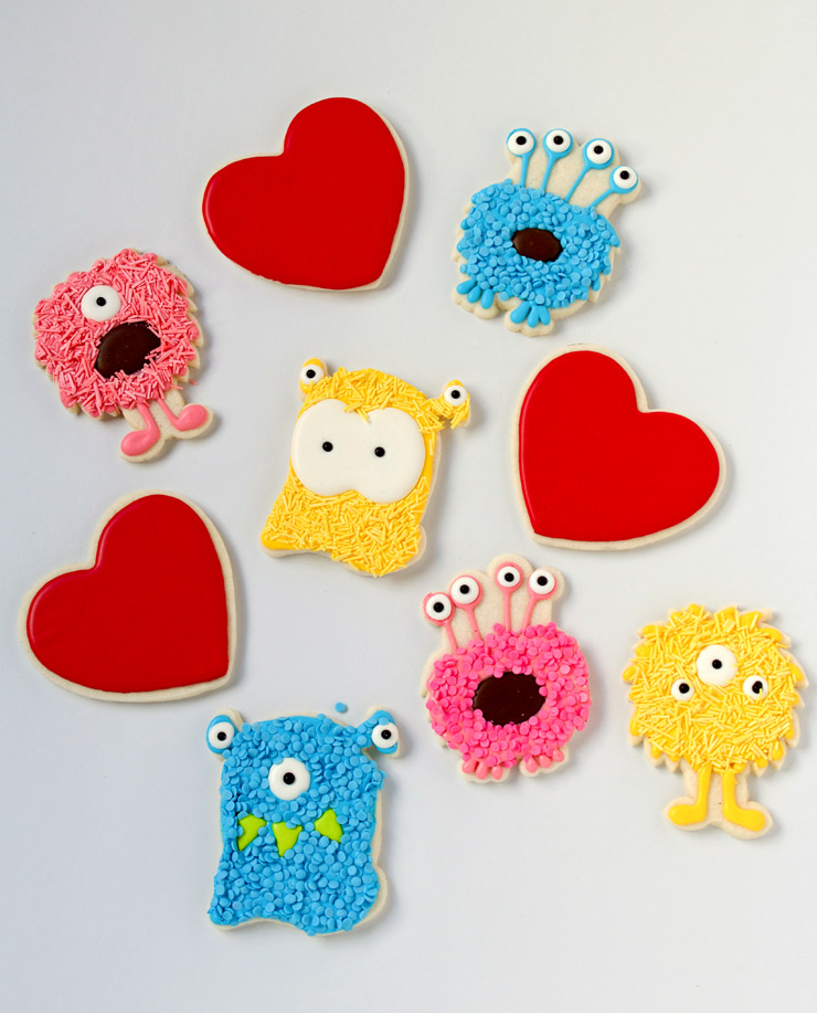 You're Monsteriffic Valentine Cookies | The Bearfoot Baker