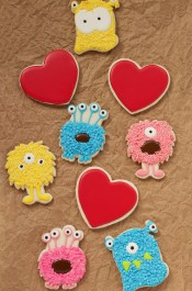 Monsteriffic Valentine Cookies